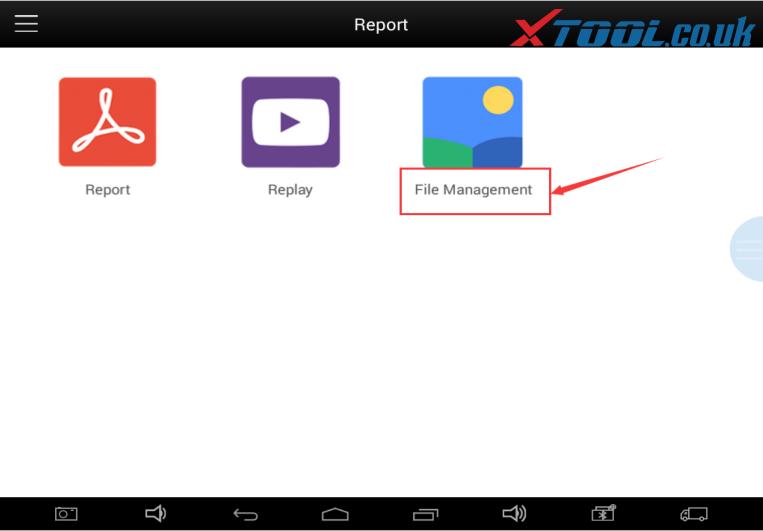 Find the File Management menu