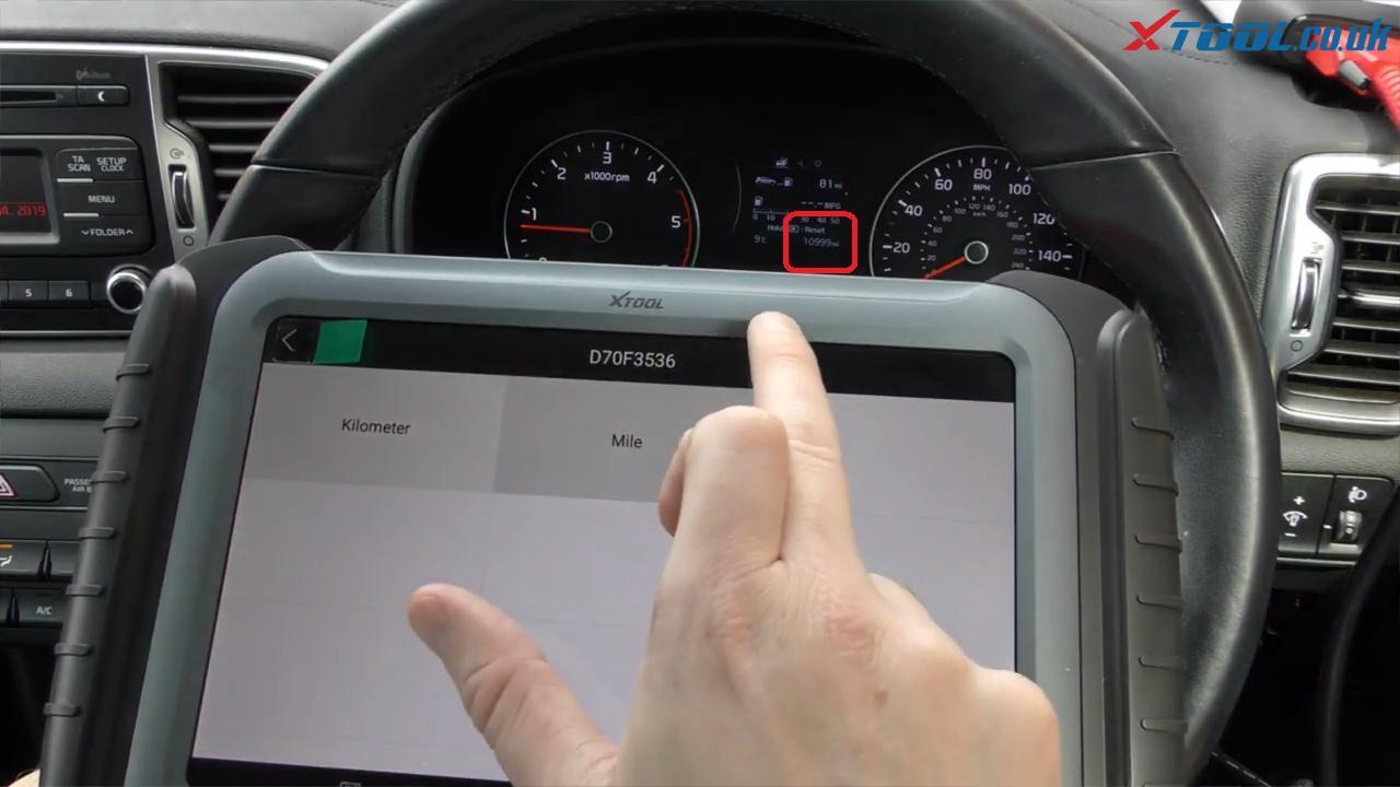 XTOOL A80 H6 Kia Sportage Three-minute Odometer Correction