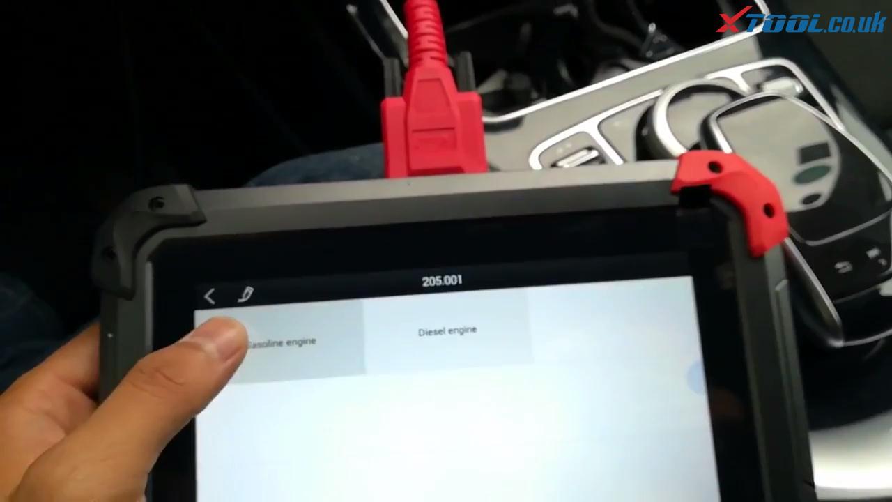 XTOOL EZ400 Pro Mercedes-Benz 2017 Quick Scan Instruction