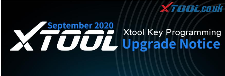 XTOOL Key Programmers September Function Update Notice