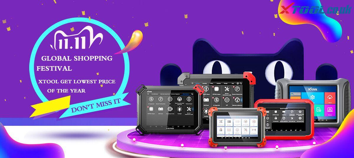 """XTOOL Professional Products """"11.11"""" Global Shopping Festival"""