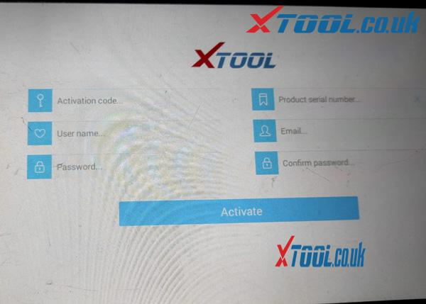 XTOOL activate