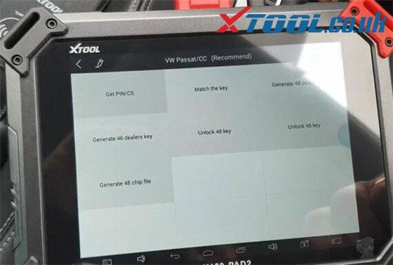 Xtool X100 Pad2 Pro Vw Car List 6