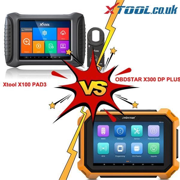 XTOOL X100 PAD3 VS OBDSTAR X300 DP Plus