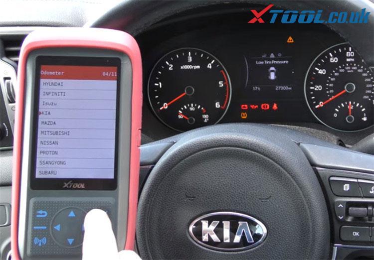 X100 Pro2 Kia Mileage Correction Car List 3