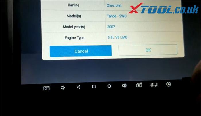 Xtool X100 Pad3 Diagnose 2007 Chevrolet Tahoe 6
