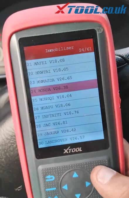 X100 Pro2 Program Honda Crv 2004 Akl 3