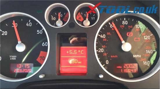 Xtool V401 Test Dashboard Audi Tt Mk1 7