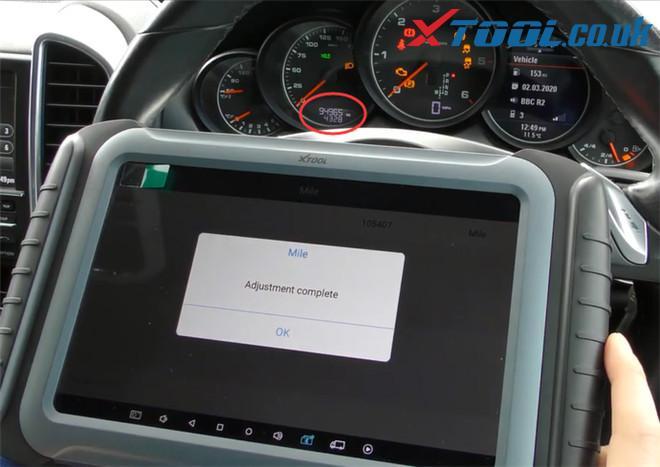 Xtool A80 Pro Change Mileage Porsche Cayenne 10