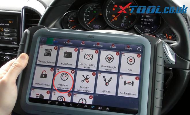 Xtool A80 Pro Change Mileage Porsche Cayenne 2