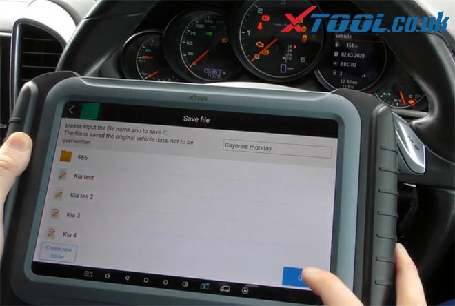 Xtool A80 Pro Change Mileage Porsche Cayenne 7
