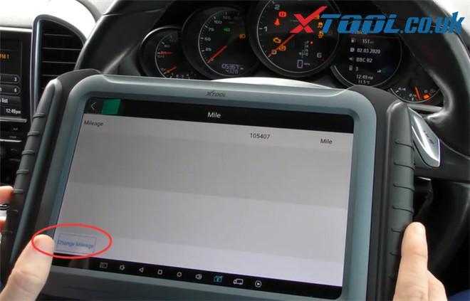 Xtool A80 Pro Change Mileage Porsche Cayenne 8