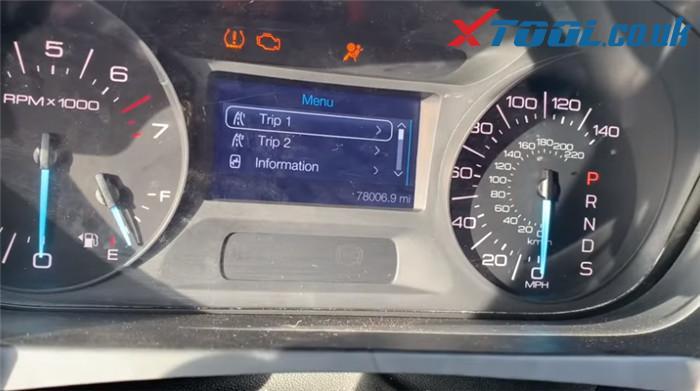 Xtool X100 Pad2 Change Mileage Ford Egde 2013 6