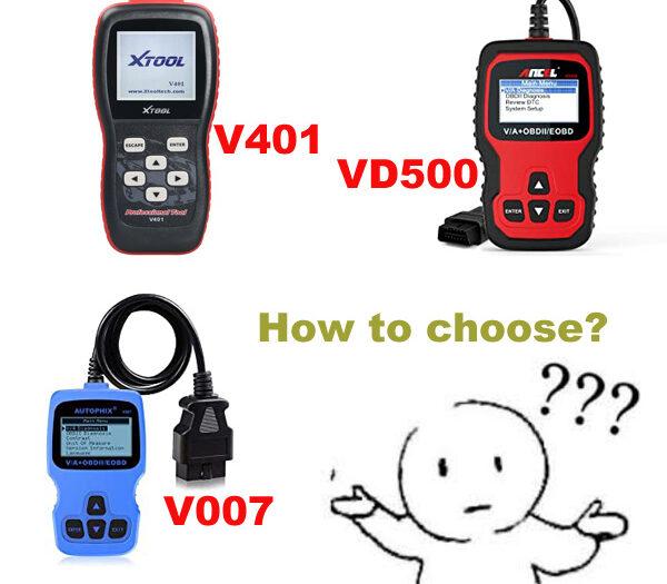 XTOOL V401 Vs. Ancel VD500 Vs. Autophix V007