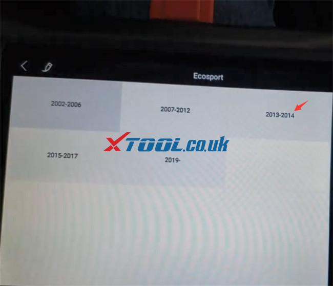 Xtool X100 Pad3 Program Ford Ecosport 2014 7