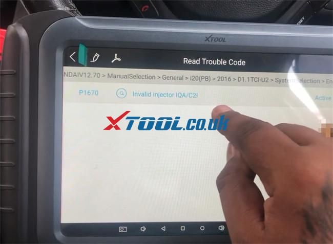 Xtool A80 Pro Hyundai I20 Pb 2016 Injector Code 14