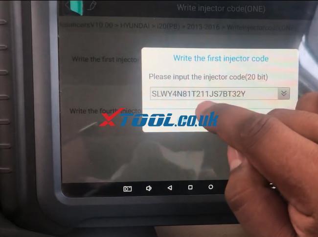 Xtool A80 Pro Hyundai I20 Pb 2016 Injector Code 8
