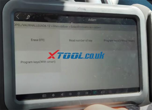 Xtool A80 Pro Program 2015 Vauxhall Adam 12