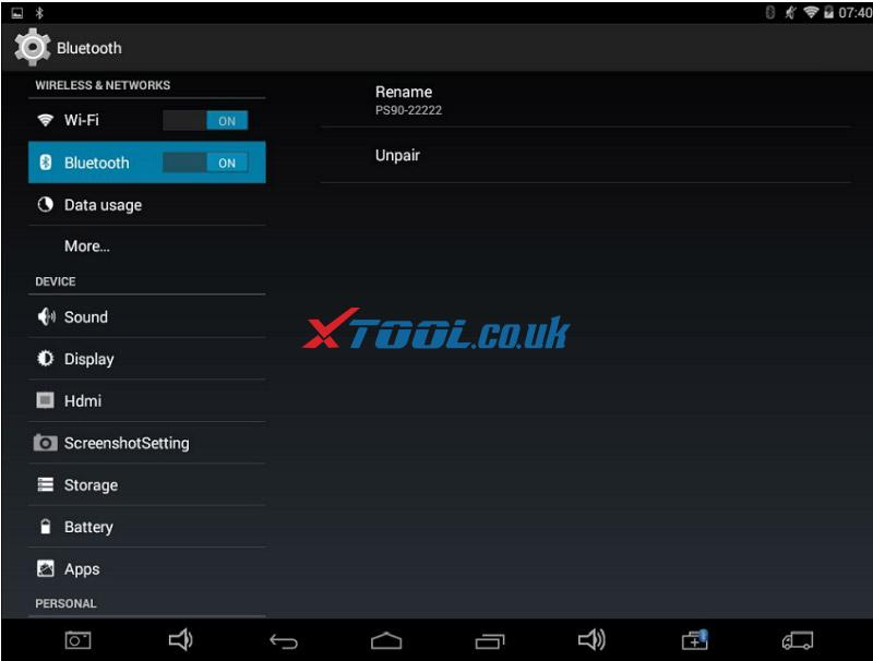 Xtool Ps90 Bluetooth Connection 08
