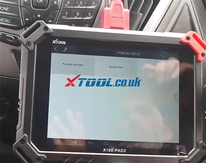 X100 Pad2 Pro Program Ford Transit Custom 2014 2