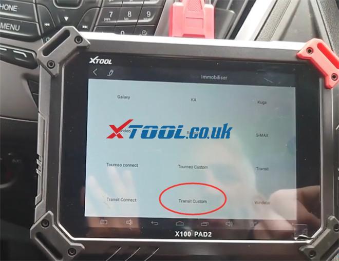 X100 Pad2 Pro Program Ford Transit Custom 2014 3