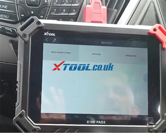X100 Pad2 Pro Program Ford Transit Custom 2014 4