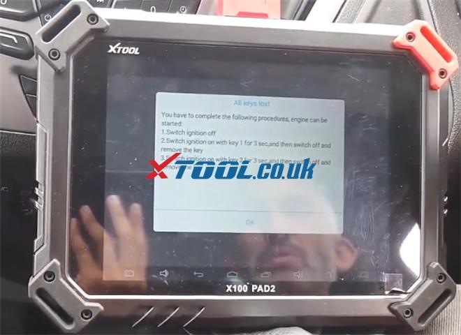 X100 Pad2 Pro Program Ford Transit Custom 2014 6