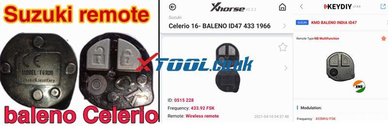 Suzuki Baleno AKL Or ADD Key Programming By Xtool PAD 01