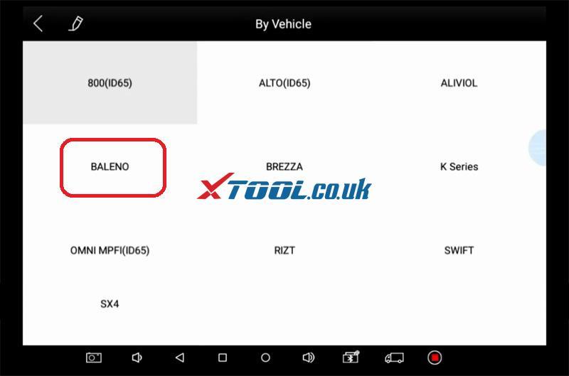 Suzuki Baleno AKL Or ADD Key Programming By Xtool PAD 10