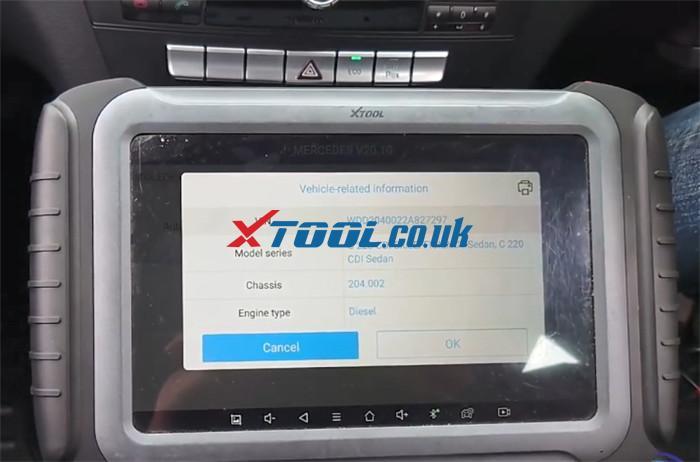 Xtool A80 Pro Benz C220 Parking Sensor Fault 2
