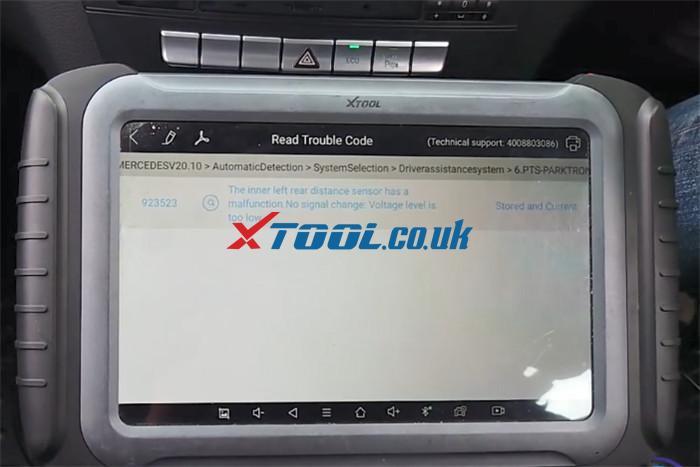 Xtool A80 Pro Benz C220 Parking Sensor Fault 5