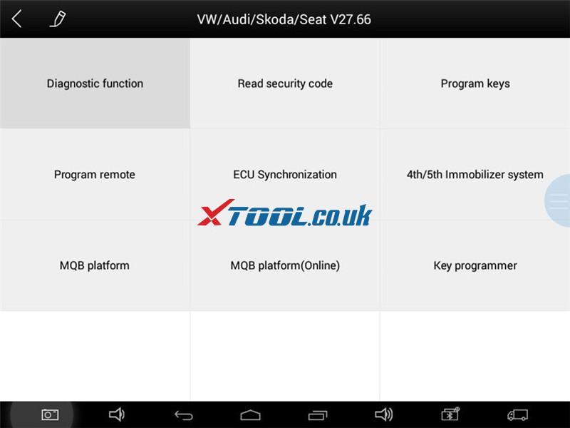 Xtool Tablet Vw Sharan 2012 A1 Learn Key 1