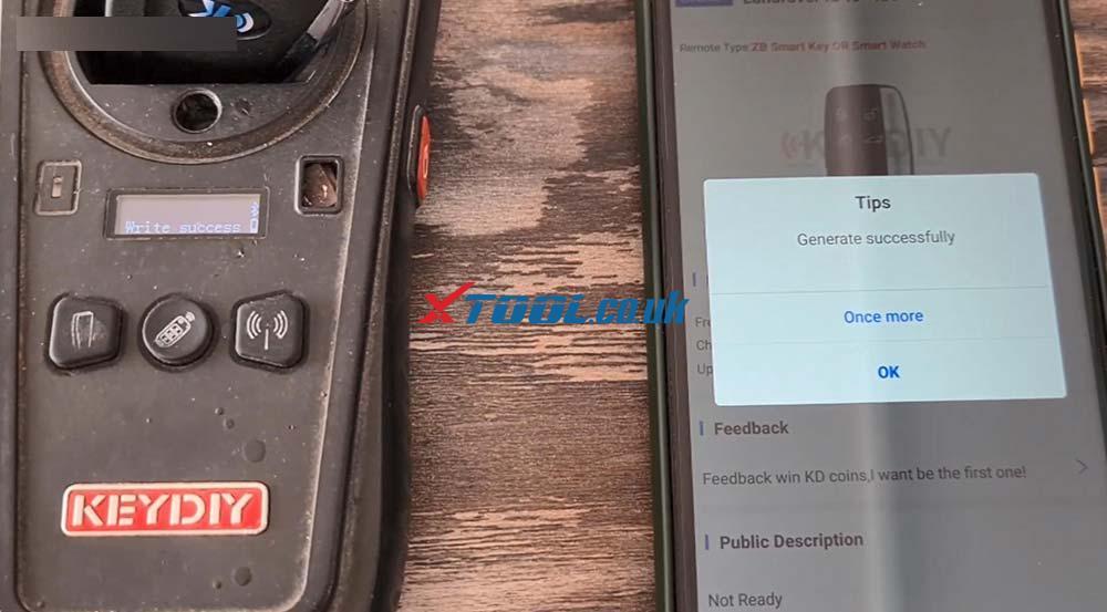 Xtool X100 Pad2 Program New Jaguar Landrover 2014 Smart Key 05
