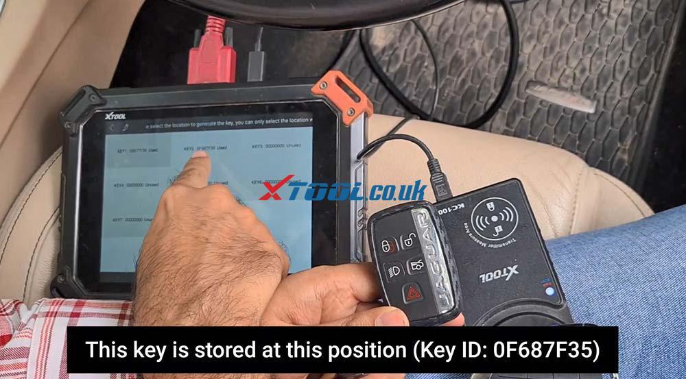 Xtool X100 Pad2 Program New Jaguar Landrover 2014 Smart Key 20