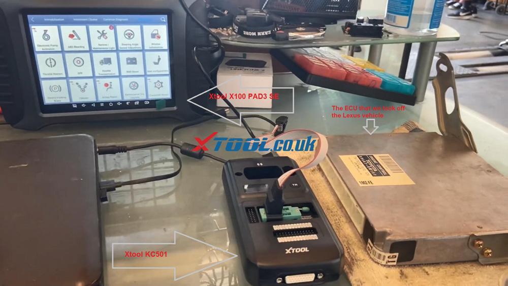 Xtool X100 Pad3 Se Reflash Toyota Lexus Ic900 93c56 Data 01